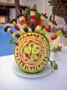 Decoración con frutas y verduras bodas eventos Tenerife