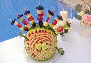 Frutas decorativas bodas Tenerife
